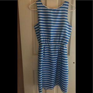J. Crew Dee Nautical silk mini dress